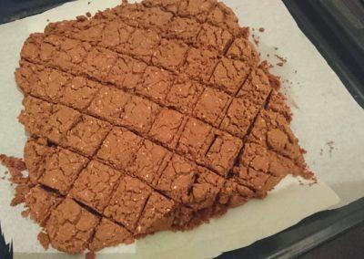 Sablés au chocolat deux textures