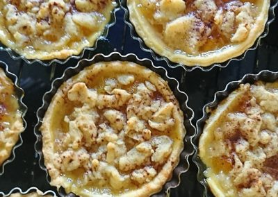 Tarte aux abricots et crumble