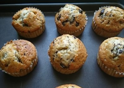 Muffins éclats de chocolat